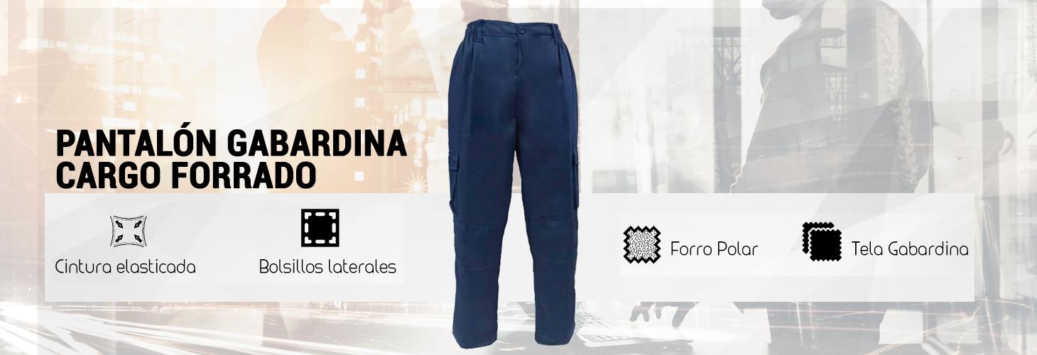 pantalon gabardina cargo forrado Carmelo Tala